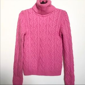 The Limited pink cable knit turtleneck sweater